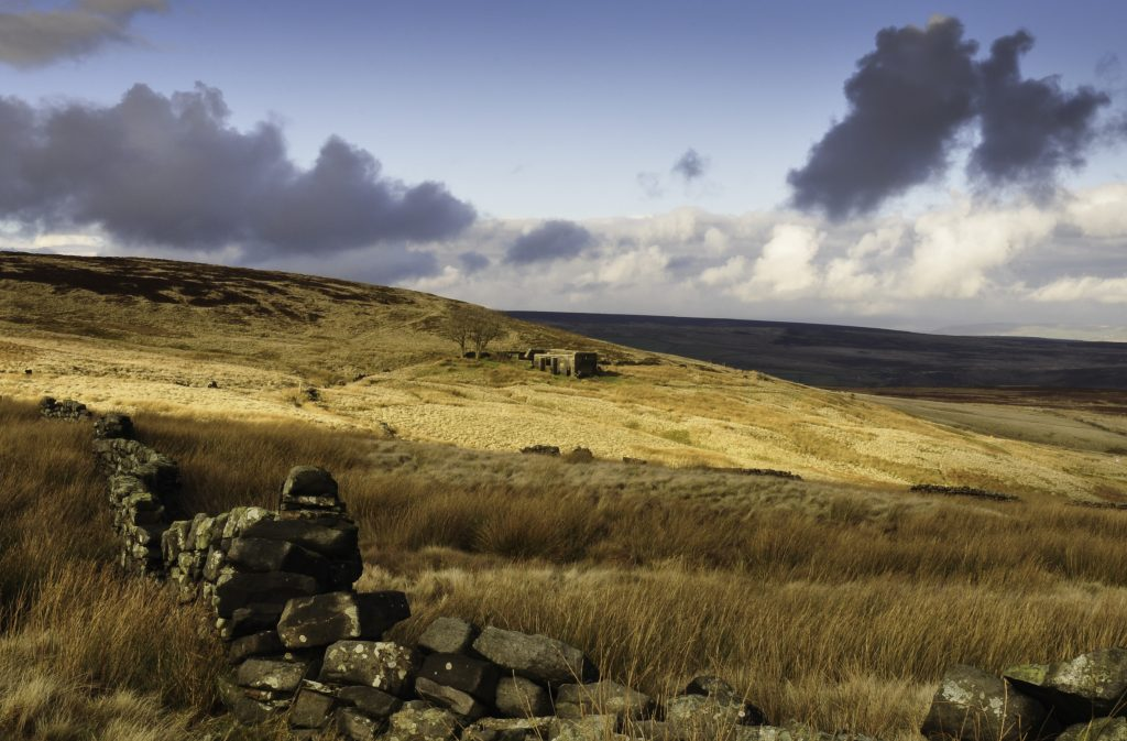 The ruins of Top Withens from the Pennine Way