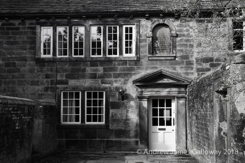 The mullioned windows of Ponden Hall