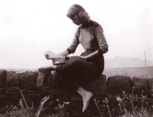 Sylvia Plath at Top Withens, 1956. Photograph by Ted Hughes.